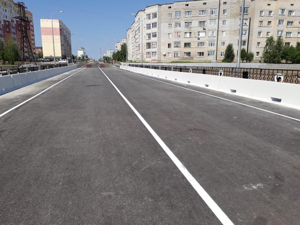 Автомобильная дорога к пристани (проспект Победы) в г. Мегион. Мост через реку Сайма