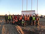 Временный причал на реке Зея для нужд строительства Амурского ГПЗ